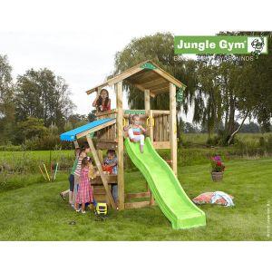 Jungle Gym Sukha aire de jeux en bois + toboggan - 12 enfants