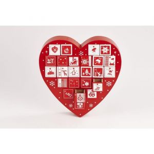 Christmas Dream Calendrier de l'avent forme Coeur (30,5 cm)