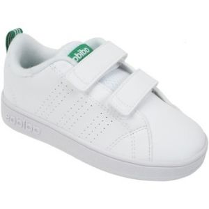 Adidas VS Advantage Clean CMF, Baskets Mixte Enfant, Blanc (Footwear White/Footwear White/Green 0), 27 EU