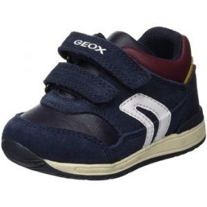 Geox B Rishon A, Sneakers Basses Bébé Garçon, Bleu (Navy/Bordeaux C4335), 24 EU