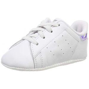 Adidas Stan Smith Crib, Chaussures de Gymnastique Mixte bébé, Blanc FTWR White/Silver Met, 20 EU