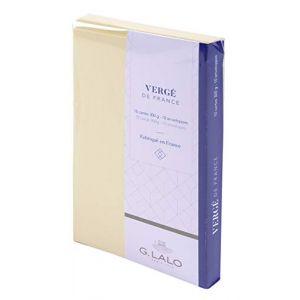 G. Lalo 25616L - 10 cartes Vergé 85x135 300g/m² + 10 enveloppes visite doublées, coloris ivoire