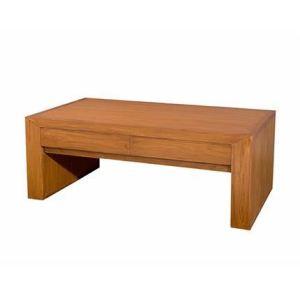 Table basse moderne Biarritz 4 tiroirs (60 x 110 cm)