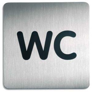 "Durable 4957-23 - Pictogramme ""WC"", coloris silver"