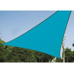 Perel Voile Solaire Triangle 3,6x3,6x3,6m Couleur Bleu Ciel