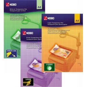 Nobo 33638235 - Boîte de 100 transparents pour écriture manuelle, format A4, 100µ