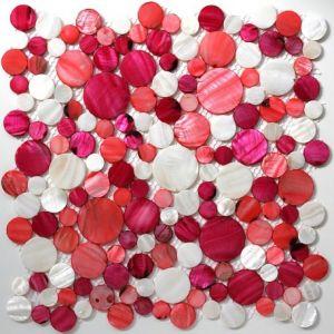 Redondo - Carrelage mosaïque en nacre pour douche, cuisine, crédence (32 x 32 cm)