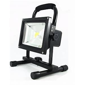 Silamp Projecteur LED Phare 20W IP65 Portable Rechargeable NOIR
