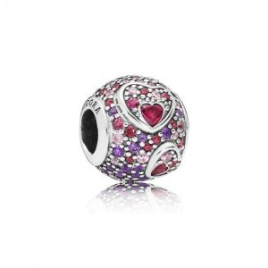 Pandora Charm Amour 797826CZRMX - Charm Coeurs Stylisés Femme