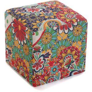 Wellindal Tabouret Cube Multicolore GIARDINO