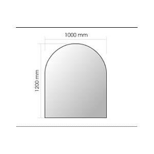 Invicta 6920-02 - Plaque en verre pour poêle à bois grande courbe