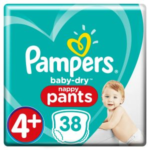 Pampers Baby Dry Pants Taille 4+, 9-15 kg, 38 couches culottes