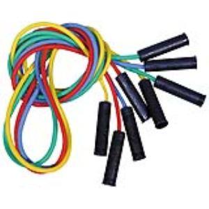 Lot de 4 cordes à sauter en plastique avec poignées