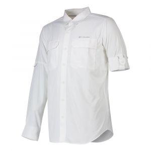 Columbia Silver Ridge II Chemise à Manches Longues Homme, Blanc