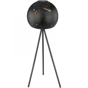 Globo Lampe sur pied solaire à LED Or noir Lampe sur pied à 3 pieds Moon Star Punching Ball Spot de jardin à 3 pieds 33534