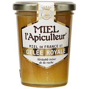 Lune de miel MIEL L'Apiculteur Miel de France et Gelée Royale Pot Verre 250 g