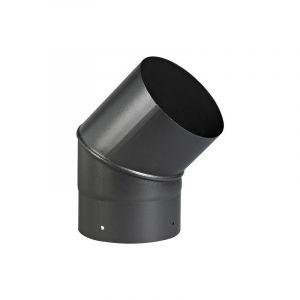 Ten coude 45° email mat acier émaillé diamètre : 180 bois - fioul - gaz