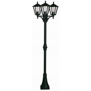 Albert Leuchten Lampadaire rustique 680 noir à 3 lampes