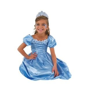 César Déguisement princesse bleu (3 à 10 ans)