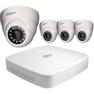 Dahua Kit vidéo surveillance HD CVI 4 dômes 1080P