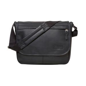 Eastpak Sac besace Delegate Leather en cuir Black Ink Leather noir