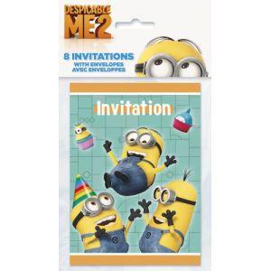 8 invitations Moi Moche et Méchant