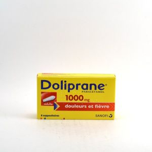 Sanofi Doliprane 1000 mg - 8 suppositoires