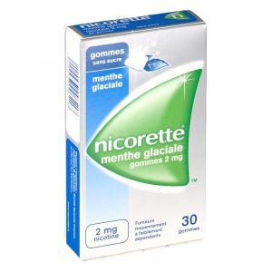Johnson & Johnson Nicorette menthe glaciale s/s 2 mg - 30 Gommes à mâcher