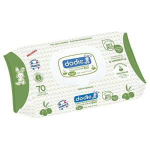 Dodie Lingettes nettoyante a l'huile d'olive bio 3en1 - x70