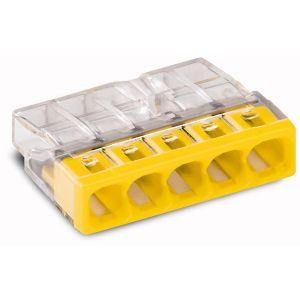 Wago Borne 2273-205 Nombre de pôles: 5 transparent, jaune 20 pc(s)