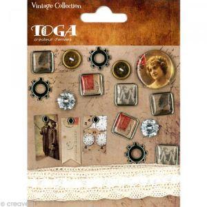 Toga Embellissement scrap vintage
