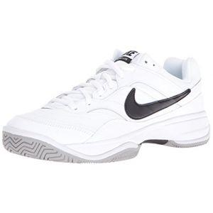 Nike Chaussure de tennis pour surface dure Court Lite pour Homme - Blanc - Taille 45 - Homme