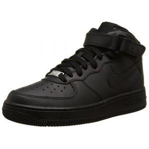 Nike Chaussure Air Force 1 06 mi-montante pour Garçon - Noir - Taille 36