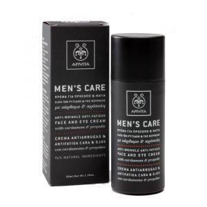 Apivita Men Care - Crème visage et yeux anti-rides et anti-fatigue
