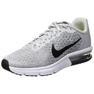 Nike Air Max Sequent 2 (GS), Chaussures de Running Compétition Garçon, Gris (Pure Platinum/Black-Cool Grey-Wolf Grey 006), 36.5 EU