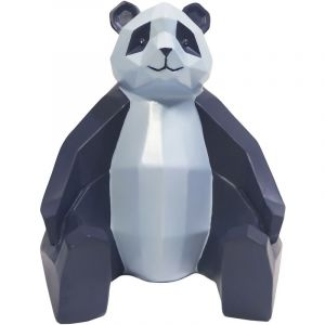 Present time Statue panda bleu et bleu clair ORIGAMI