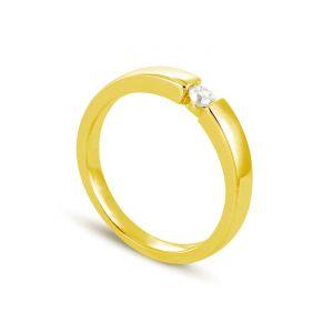 Rêve de diamants 3612030095207 - Bague en or jaune sertie d'un diamant