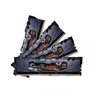 G.Skill Flare X Series schwarz, DDR4-2400 fur Ryzen, CL 16 - 64 - F4-2400C16Q-64GFX