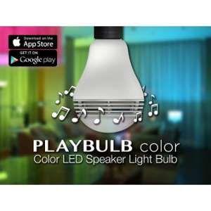 Mipow PLAYBULB Color ampoule LED connectée - Ampoule LED couleur et enceinte connectée - L'application PLAYBULB X gere le changement de couleurs et l'arret a distance - La fonction programmation permet de se réveiller en musique et/ou via la lumiere mais