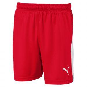 Puma Short de foot LIGA pour enfant, Rouge/Blanc, Taille 128