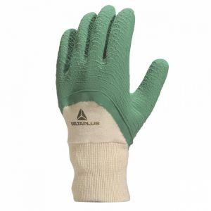 Delta Plus Gant latex jersey dos aéré vert taille 07 : LA50010