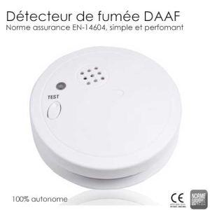 Détecteur de fumée DAFF (certifié  EN 14604)
