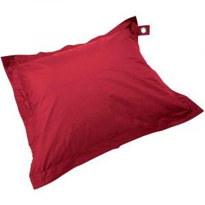 Oviala Housse vide pouf XL imperméable Rouge