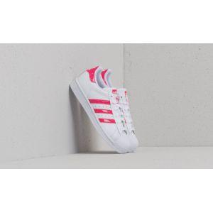Adidas Superstar J, Chaussures de Gymnastique Mixte Enfant, Blanc Cassé (FTWR White/Real Pink S18/Ftwr White), 38 EU
