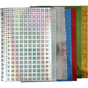 Papier holographique, A4 21x30 cm, 120 gr, 80flles ort