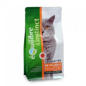 Equilibre & instinct Croquettes de viandes à la volaille pour chat adulte en sachet de 2.5 kg