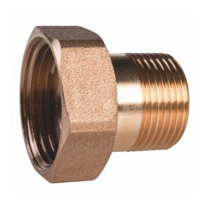 Thermador Raccord laiton hexagonal réduit à visser - M 3/4' - F 1' -