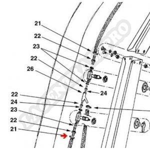 Giordano Industries 846016 - Collier de fixation en inox pour tuyau de douche