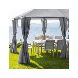 Hesperide Jeu de 6 rideaux pour la tonnelle Santorini (3 x 4 m)