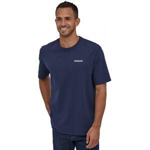 Patagonia T shirt manches courtes p 6 logo responsibili tee bleu homme xl